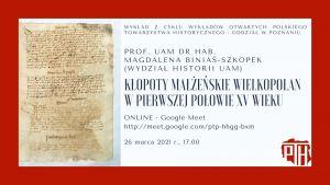 Zaproszenie na wykład Pani prof. M. Biniaś-Szkopek