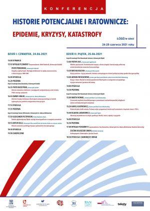 Historie Potencjalne i Ratownicze: Epidemie, Kryzysy, Katastrofy