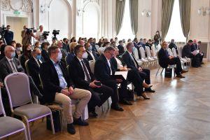 Otwarcie ogólnopolskiej konferencji naukowej pt. Poznań i Wielkopolska 100 lat po śmierci Jarogniewa Drwęskiego - nowe spojrzenia. Poznań 2021-09-14 (c) Piotr Namiota