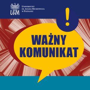 Harmonogram rozmów kwalifikacyjnych do Szkoły Doktorskiej UAM